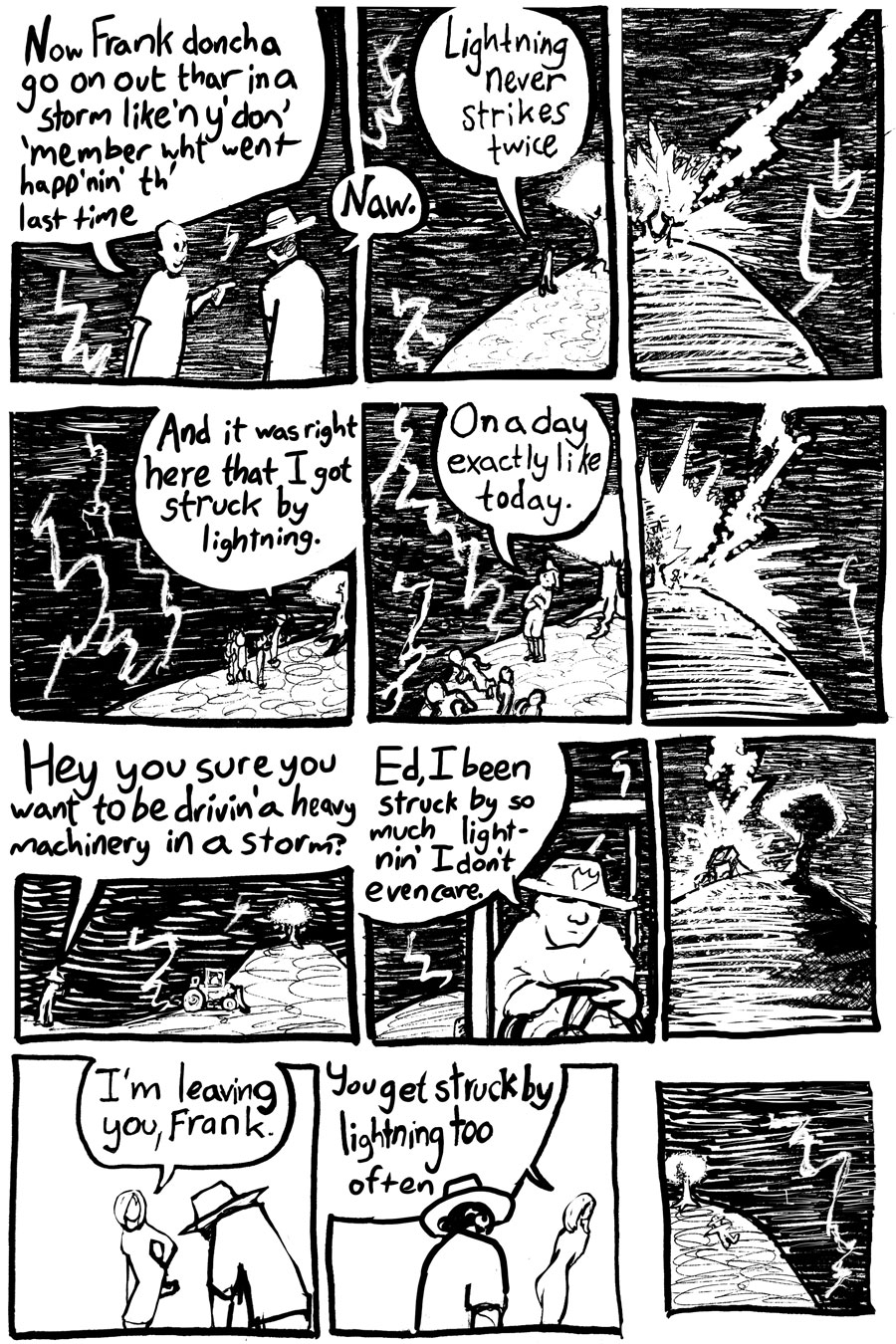 How I Got Struck By Lightning Several Times Page Three