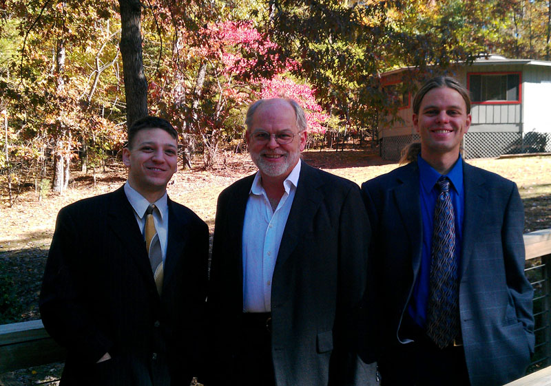 Brian, Dad, and me at the wedding
