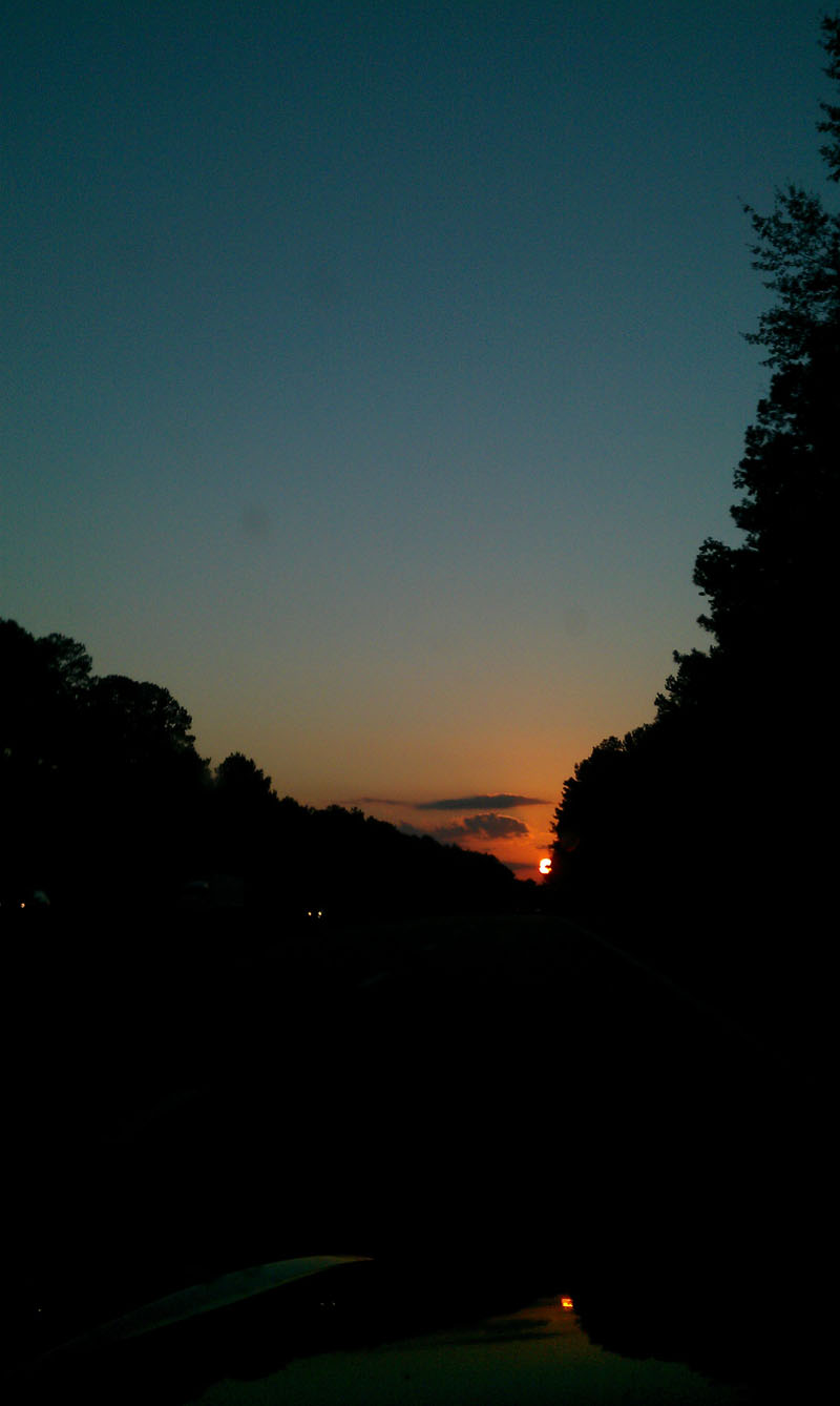 Sunset on the way home from South Carolina